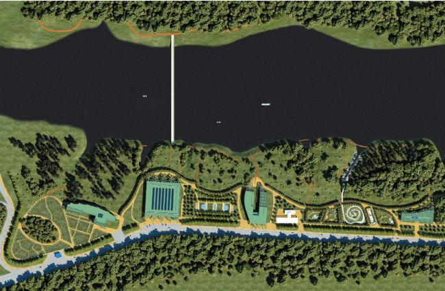 Комплекс садово-паркового искусства, ландшафтной архитектуры и цветочного оформления. Парк «Тушинский» © ГУП МНИИП «Моспроект-4»
