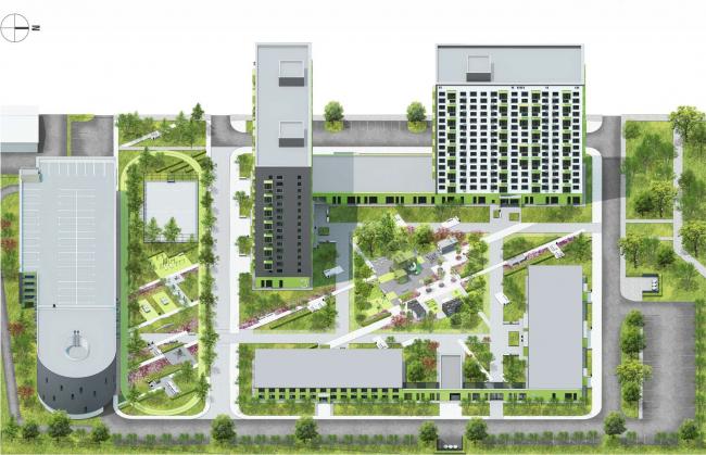 «Квартал Квартет» © sp architect