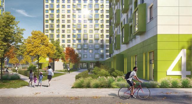 «Квартал Квартет». Общий вид двора © sp architect