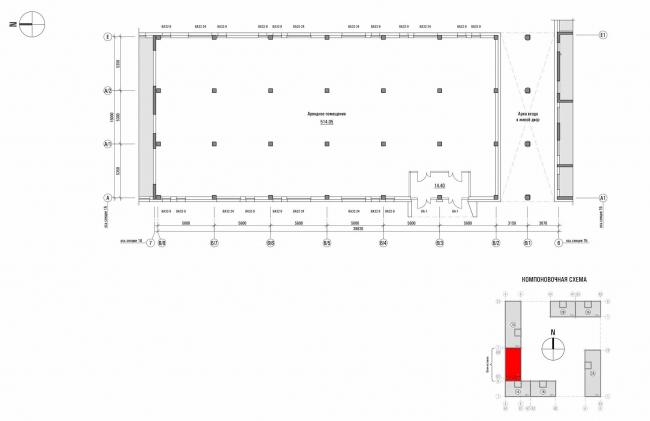«Квартал Квартет». Блок-вставка. План 1 этажа © sp architect