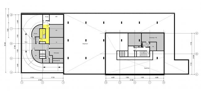 План технической антресолина на отм. -3.300  © Проектное бюро АПЕКС