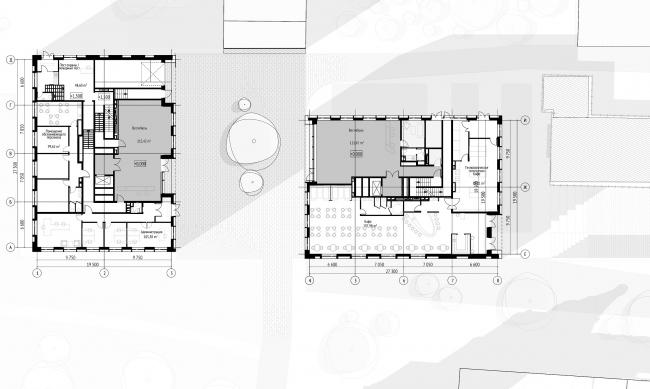 План 1 этажа на отм. 0.000  © Проектное бюро АПЕКС