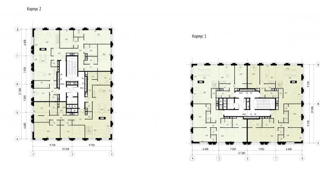 План пентхауса на отм. +15.150  © Проектное бюро АПЕКС
