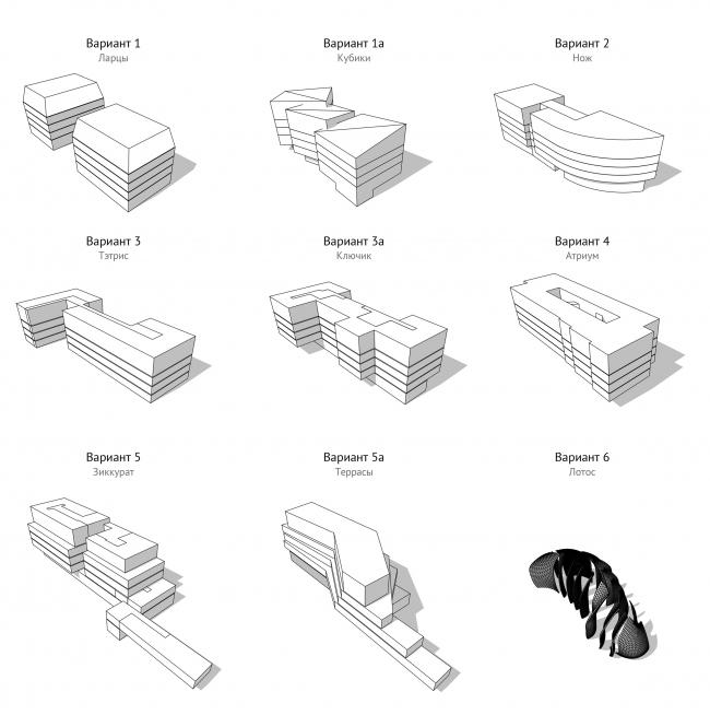Варианты жилого комплекса © Проектное бюро АПЕКС