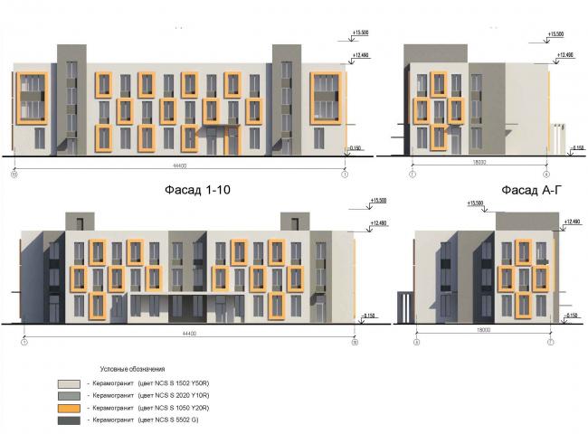 Многофункциональный комплекс на Софийской. ДОО. Фасады © Архитектурная мастерская А.А. Столярчука