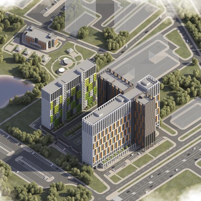 Многофункциональный комплекс на Софийской © Архитектурная мастерская А.А. Столярчука