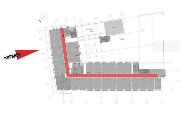 Реконструкция здания на Зубовской площади. 2 этаж