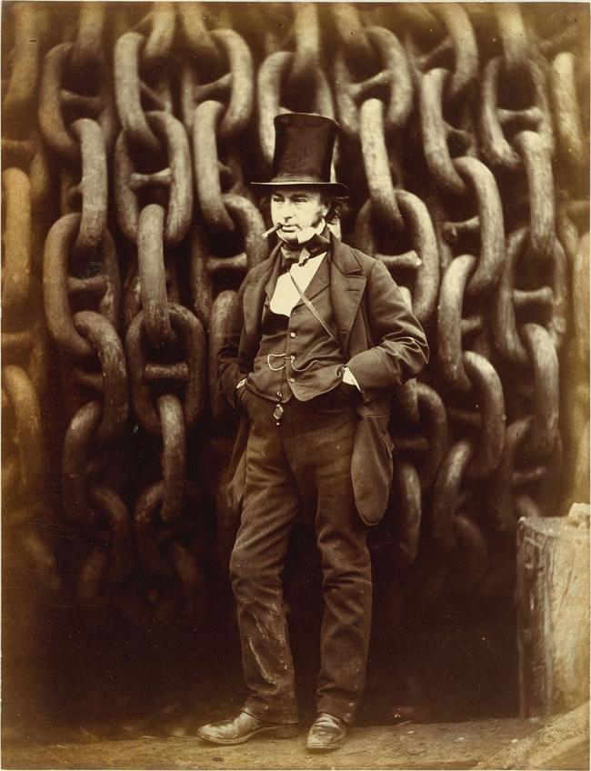 Изамбард Кингдом Брюнель. Автор фотографии: Роберт Хаулетт. 1857. Из собрания Музея Метрополитен (Нью-Йорк). На фото не распространяются авторские права.
