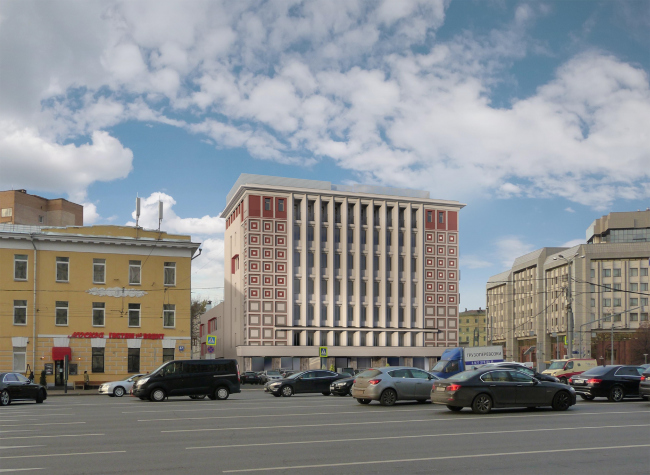 "Reconstruction of the building at the Zubovskaya Square © ""GRAN"" architects"