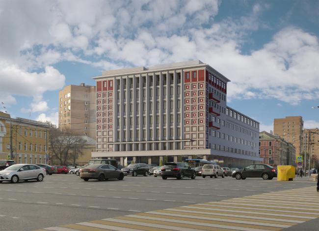 Реконструкция здания на Зубовской площади © Архитектурная мастерская «ГРАН»