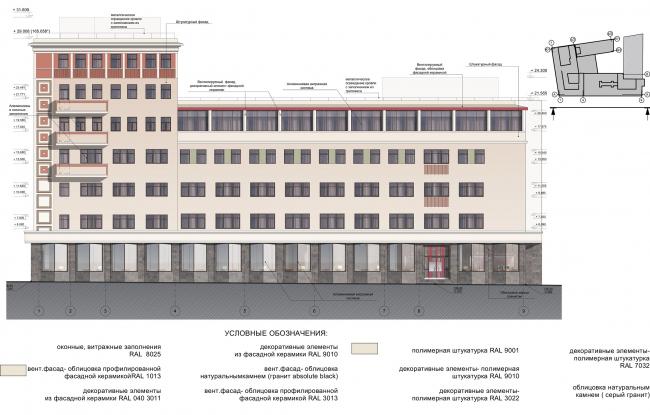 Реконструкция здания на Зубовской площади. Фасад