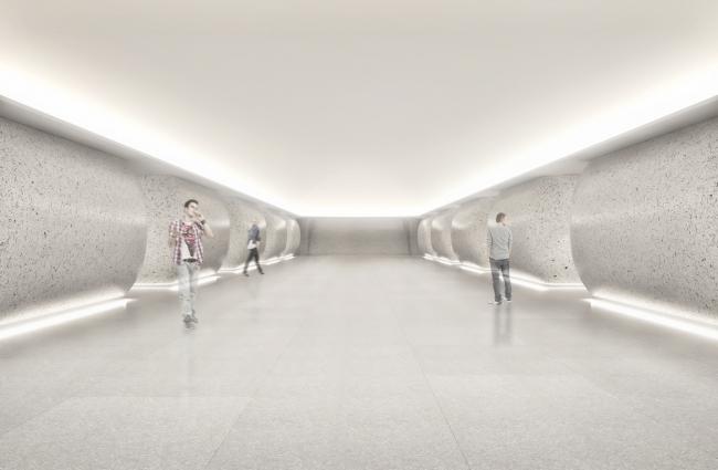 Станция метро «Шереметьевская» © AI Architects