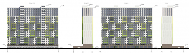 Многофункциональный комплекс на Софийской. Фасад жилого дома © Архитектурная мастерская А.А. Столярчука
