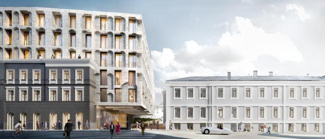 Многофункциональный комплекс на ул. Остоженка © Kleinewelt Architekten
