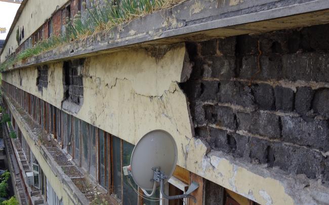 Состояние перед началом реставрации. Предоставлено Гинзбург Архитектс