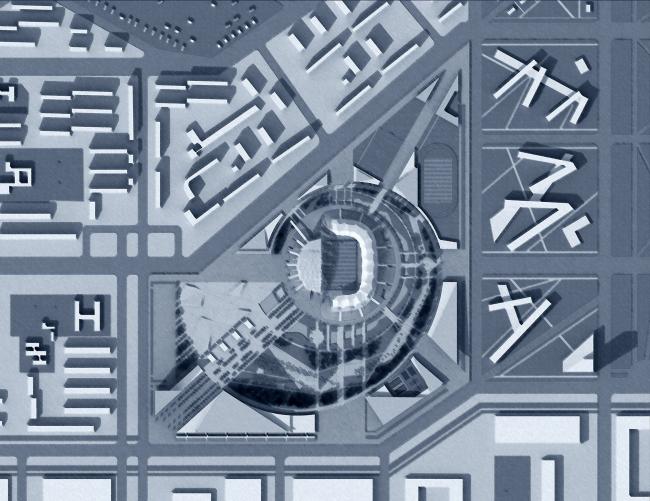 Спортивный комплекс им. А.А. Кадырова в г. Грозном  © ГУП МНИИП «Моспроект-4»