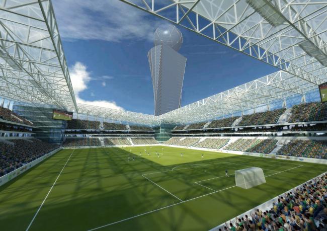Футбольный стадион ЦСКА на 30 000 зрителей