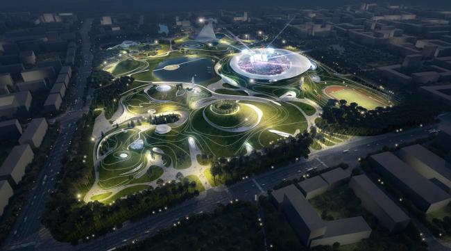 Спортивный кампус в Цюйчжоу © MAD