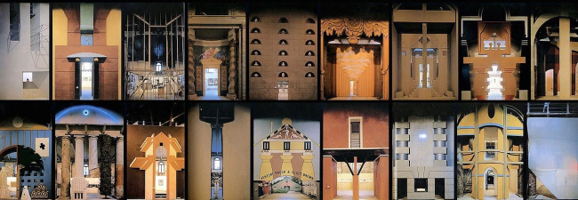 "Экспозиция ""La Strada Novissima"" архитектора Паоло Портогези для Венецианской Биеннале. 1980 г. Подробнее см.: https://www.domusweb.it/en/from-the-archive/2012/08/25/-em-la-strada-novissima-em–the-1980-venice-biennale.html"