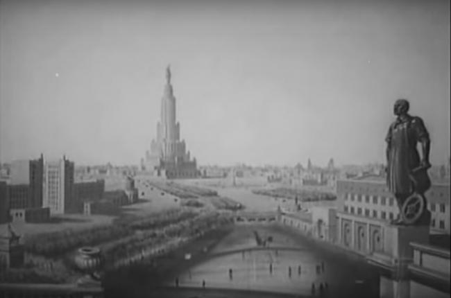 Кадр из филма «Новая Москва». 1938 г. Режисер Александр Медведкин