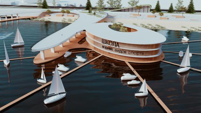 Концепция развития территории в акватории Волжской излучины в Казани. Автор: Алексей Беленко