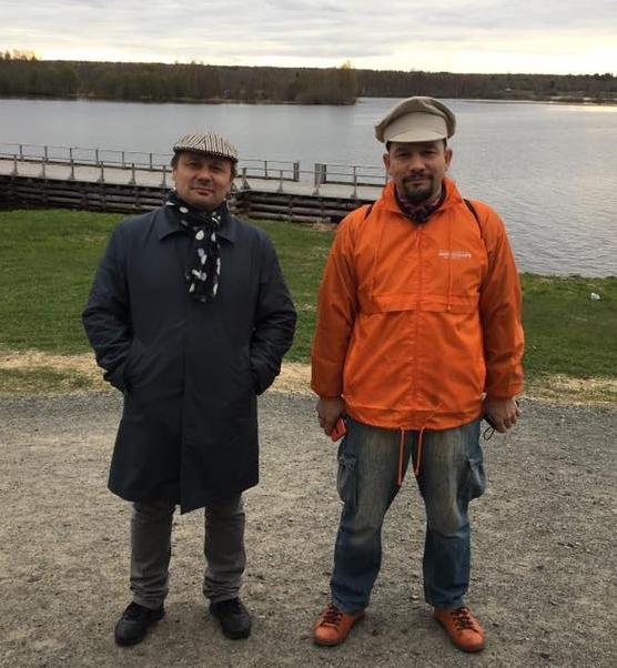 Влад Савинкин и Владимир Кузьмин. Арх Пароход 2017.  Фотография Юлии Зинкевич