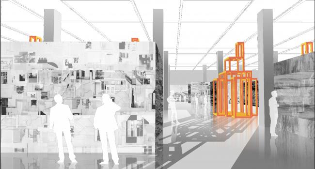 Проект экспозиции фестиваля «Зодчество 2018». © «Поле Дизайн»