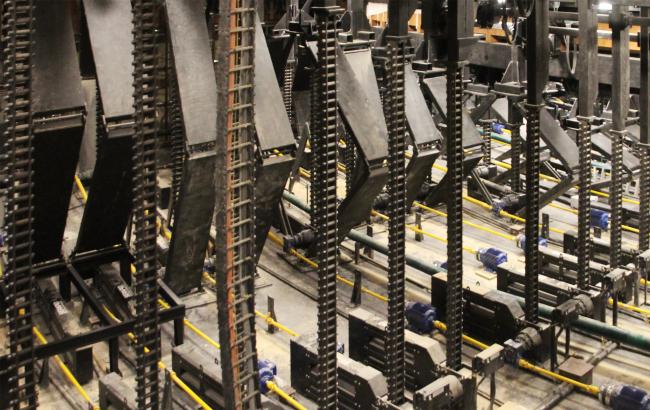 Механизмы в подземном зале концертного зала «Зарядье». Фотография Архи.ру