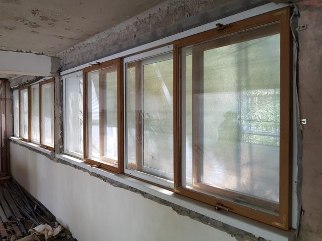 Дом Наркомфина. Отреставрированные окна. Изображение предоставлено Гинзбург Архитектс