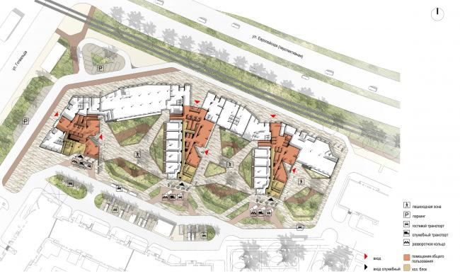 Схема генерального плана + 1 этаж