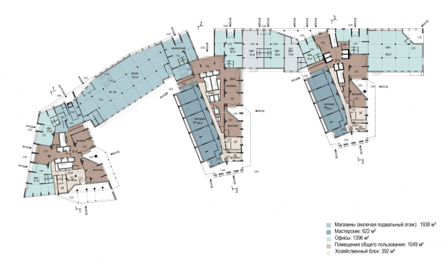 Plan of the first floor © OSA Group