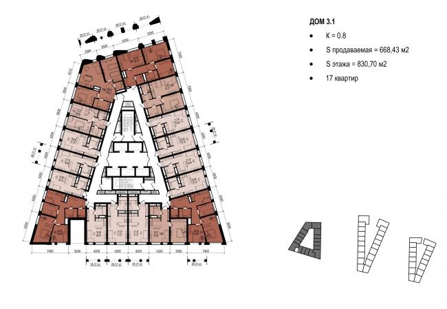 Дом 3.1 © Архитектурное Бюро ОСА
