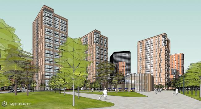 Концепция развития территории Nagatino i-Land © AHR Architects