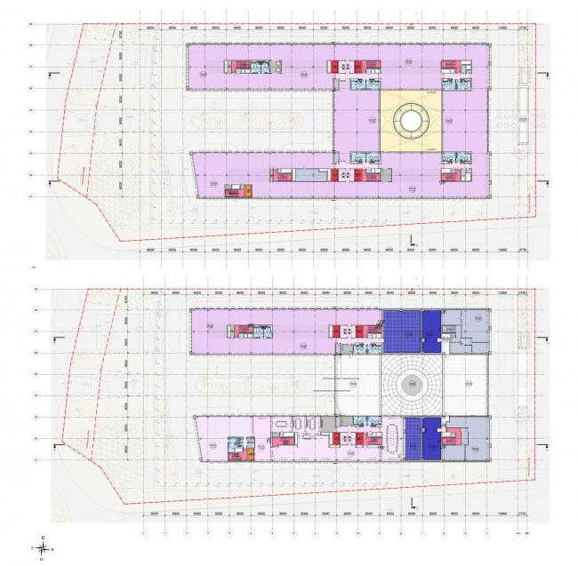 Многофункциональный офисный центр «Амальтея». Планы 4 и 5 этажей