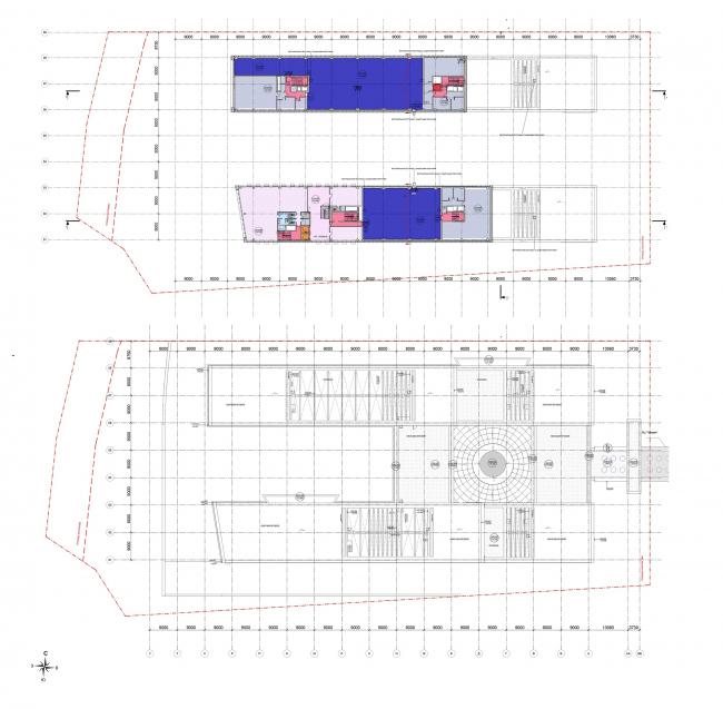 Многофункциональный офисный центр «Амальтея». Планы 6 этажа и кровли