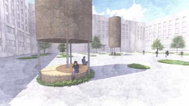 Проект зоны отдыха для МАТИ. Авторы: Анастасия Гаврюшина, Марьяна Крылова, МАРХИ