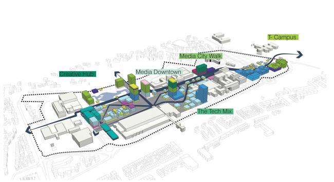 Медиа-парк в Хилверсюме. Изображение: UNStudio
