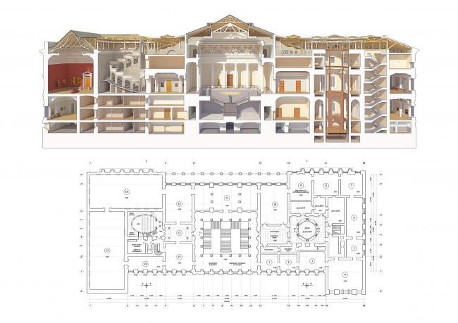 Реконструкция Русского музея © Архитектурная мастерская Михаила Филиппова