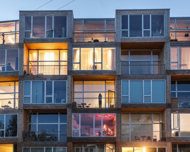 Многоквартирный дом на улице Дортеавей. Фото © Rasmus Hjortshøj