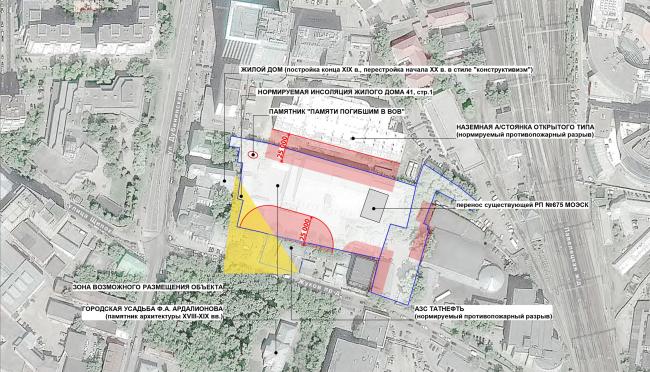 "Multifunctional complex ""Technology park ""Fridge"". Location plan © GRAN"