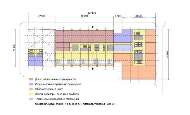 "Multifunctional complex ""Technology park ""Fridge"". Plan of the 8th floor © GRAN"