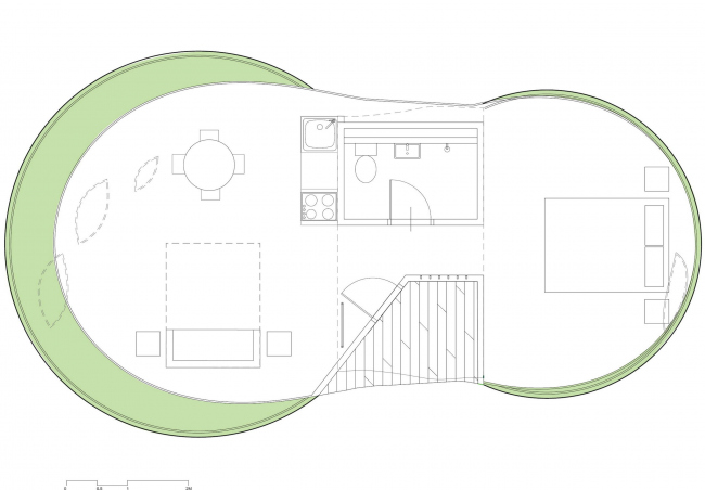 Глэмпинг-курорт SJCC. Дом типа «Гора» © Atelier Chang