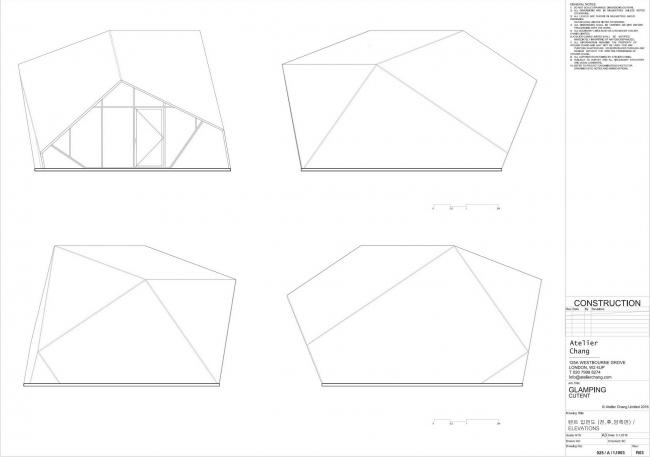 Глэмпинг-курорт SJCC. Дом типа Cutent © Atelier Chang
