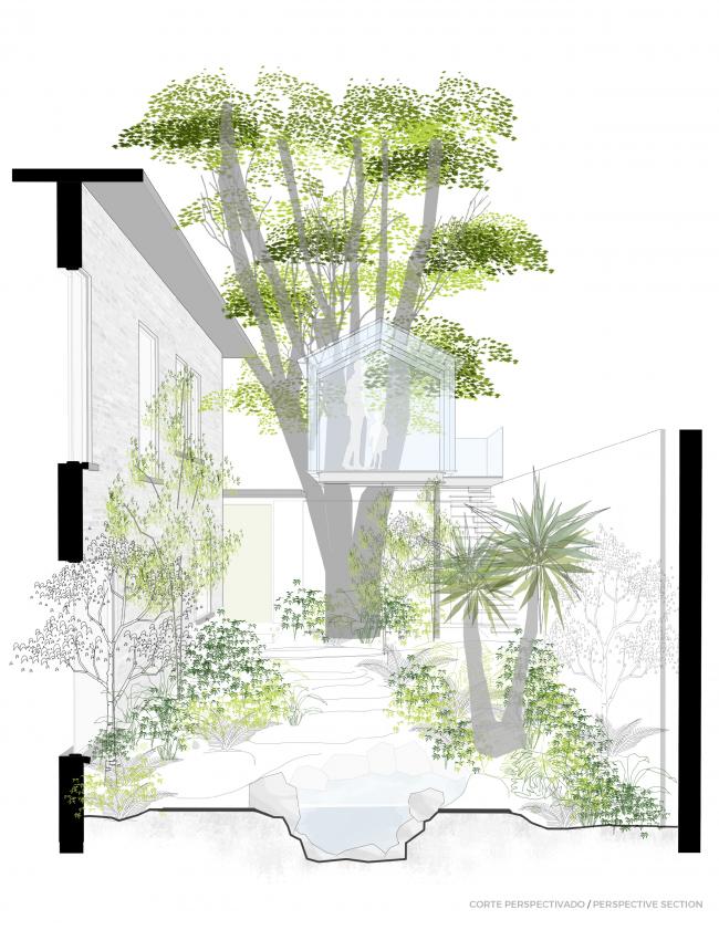 Crystal Treehouse. Перспектива. Изображение предоставлено бюро BROISSIN