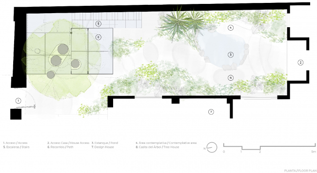 Crystal Treehouse. План. Изображение предоставлено бюро BROISSIN
