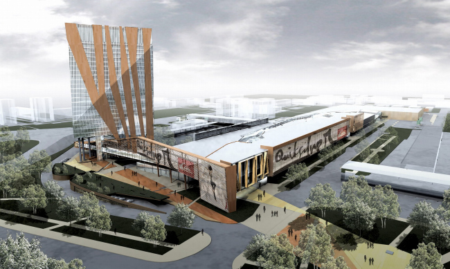 Multi-use retail and office complex, Tumen