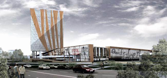 Многофункциональный торгово-офисный комплекс в г. Тюмени © Архитектурное бюро Асадова