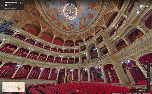 360-градусная панорама главного зала © Венгерская государственная опера