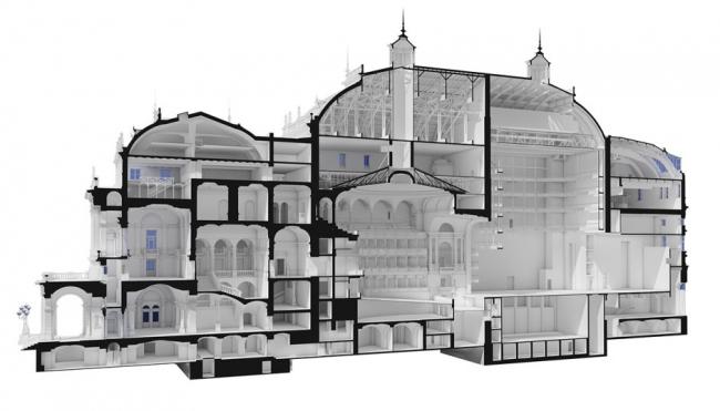 3D-сечение окончательной модели в ARCHICAD  © CÉH