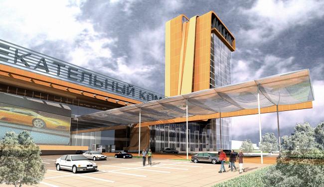 Многофункциональный торгово-офисный комплекс в Липецке © Архитектурное бюро Асадова